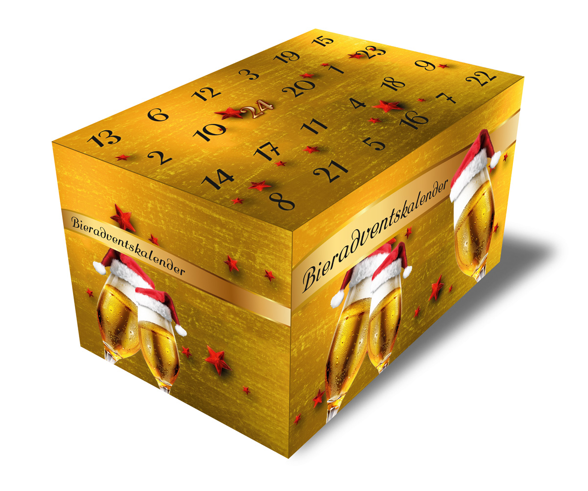 Bier-Adventskalender Gold