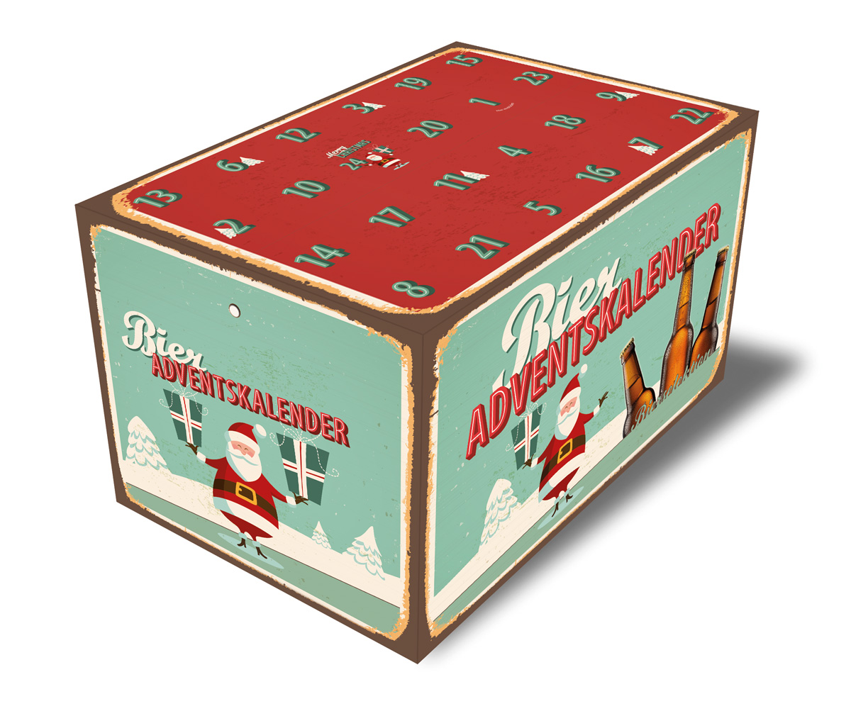 Bieriger Adventskalender Retro mint
